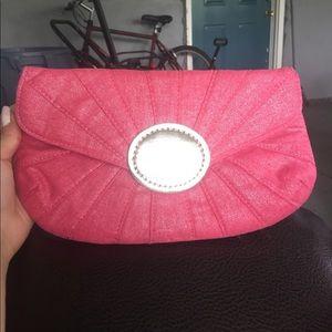 Chico's pink Eva clutch
